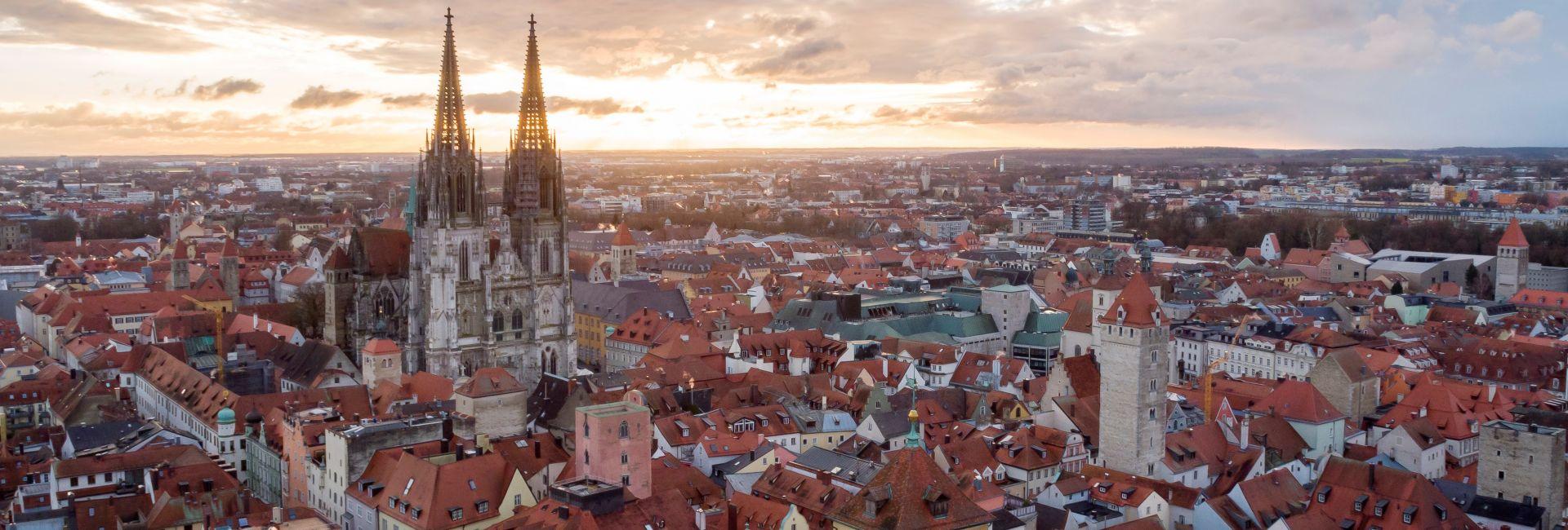 Luftaufnahme der Regensburger Altstadt; Bildquelle: Stadt Regensburg